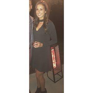 Express Choker Trapeze Dress
